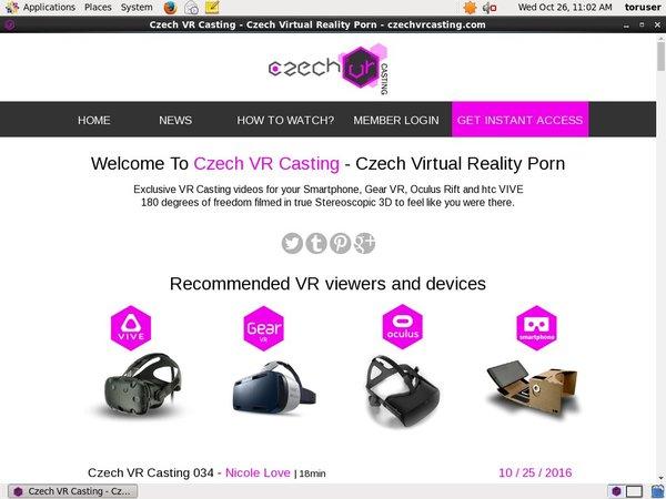 Czechvrcasting.com With Direct Debit