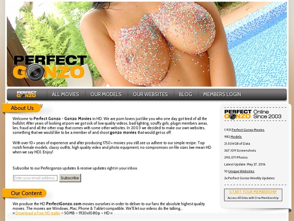 Perfectgonzo.com Exclusive Discount