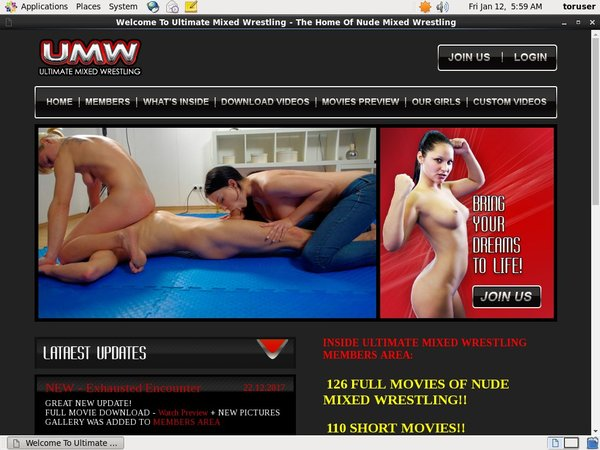 Ultimate Mixed Wrestling Adult Passwords