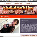 Kimsamateurs Membership Account