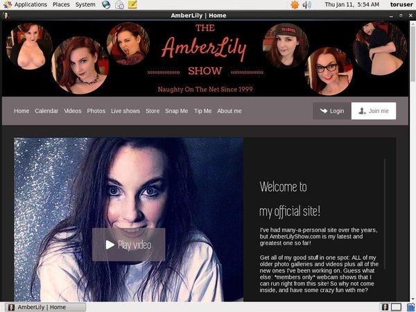 Porno Amber Lily Show