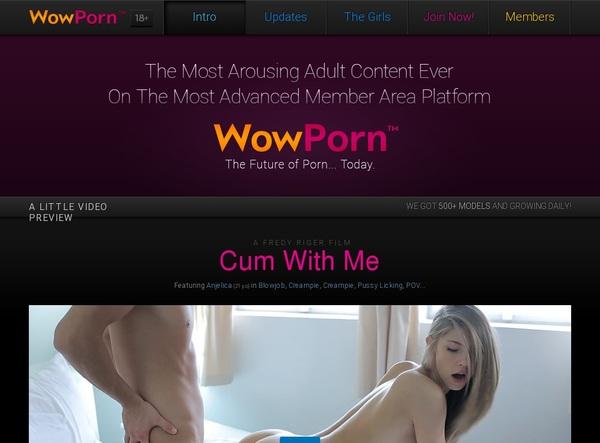 Free Wow Porn Premium Account